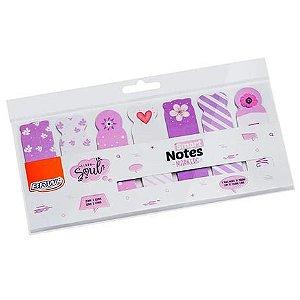 Marcador de Página Smart Notes Lilás 18x65mm BA0501 BRW