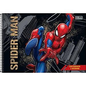 Caderno de Desenho Cartografia 80 folhas Spiderman - Tilibra