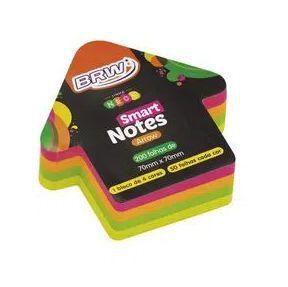 Bloco de Anotação Adesivo Smart Notes Arrow 70x70mm Seta - 4 Cores Neon - 200fls - BRW
