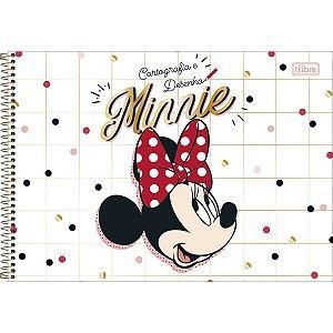 Caderno de Desenho Cartografia 80 folhas Minnie - Tilibra