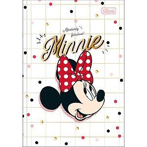 Caderno Brochura 1/4 Capa Dura 80 folhas Minnie - Tilibra