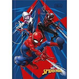 Caderno Brochura 1/4 Capa Dura 80 folhas Spiderman - Tilibra