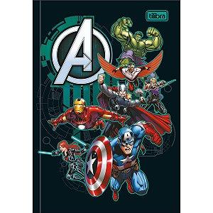 Caderno Brochura 1/4 Capa dura 80 folhas Avengers - Tilibra