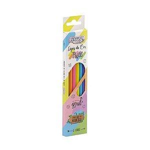 Lápis de Cor 6 cores Pastel LP0006 BRW