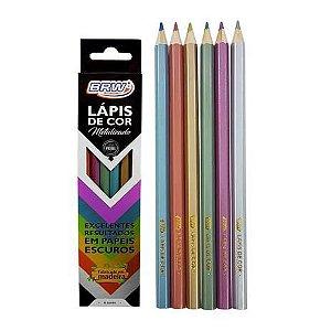 Lápis de Cor 6 cores Metalizado LP0026 BRW