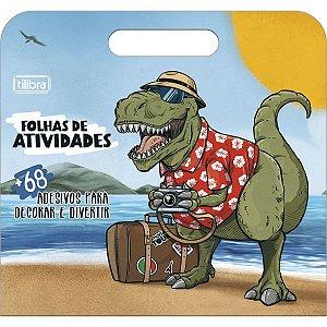 Folhas de Atividades Maleta Dinossauro Raptor com 8 folhas 190x250mm Tilibra