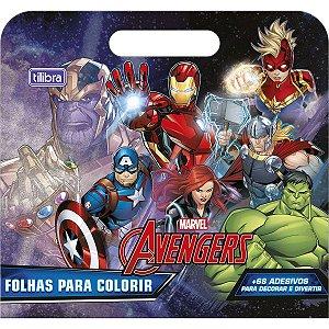 Folhas de Atividades Maleta Avengers com 8 folhas 190x250mm Tilibra