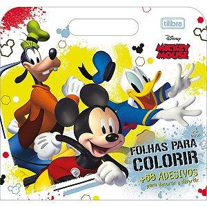Folhas de Atividades Maleta Mickey Mouse com 8 folhas 190x250mm Tilibra