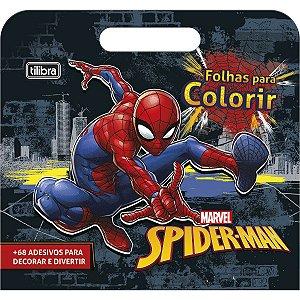 Folhas de Atividades Maleta Spiderman com 8 folhas 190x250mm Tilibra