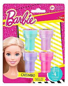 Carimbo Autotintado Barbie 4 Unidades Tris