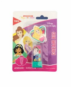 Apontador + Borracha Disney Princesas - Tris