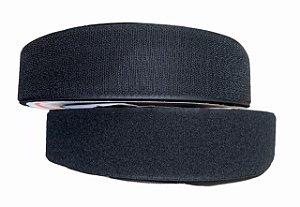 Fecho de Contato (Velcro) 25 metros x 50mm Preto - Hook & Loop