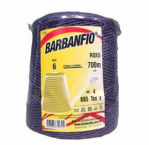 Barbante Barbanfio 6 fios Roxo 700 Gramas 700 Metros