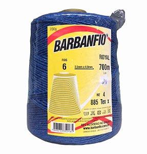 Barbante Barbanfio 6 fios Azul Royal 700 Gramas 700 Metros