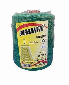 Barbante Barbanfio 6 fios Verde Bandeira 700 Gramas 700 Metros
