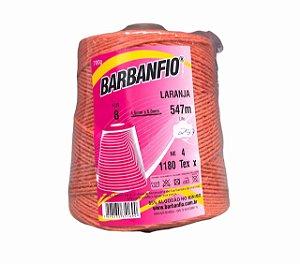 Barbante Barbanfio 8 fios Laranja 700 Gramas 547 Metros