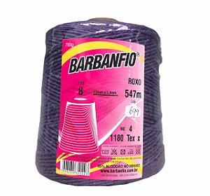 Barbante Barbanfio 8 fios Roxo 700 Gramas 547 Metros