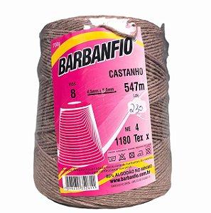 Barbante Barbanfio 8 fios Castanho 700 Gramas 547 Metros