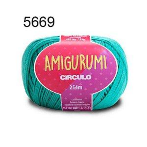 Linha Amigurumi 254m Cor 5669 Tiffany - Círculo