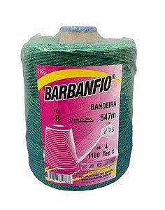Barbante Barbanfio 8 fios Verde Bandeira 700 Gramas 547 Metros