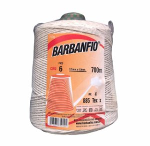 Barbante Barbanfio 6 fios Cru 700 Gramas 700 Metros