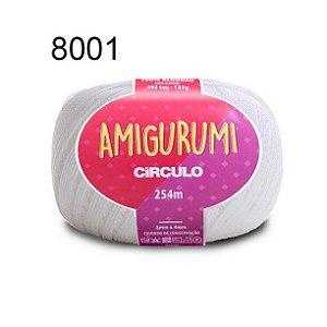 Linha Amigurumi 254m Cor 8001 Branco - Círculo
