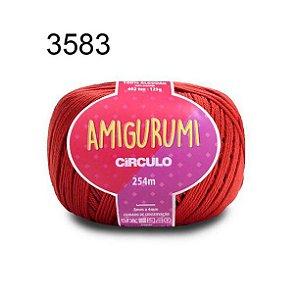 Linha Amigurumi 254m Cor 3583 Cereja - Círculo