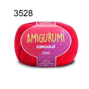 Linha Amigurumi 254m Cor 3528 Carmim - Círculo
