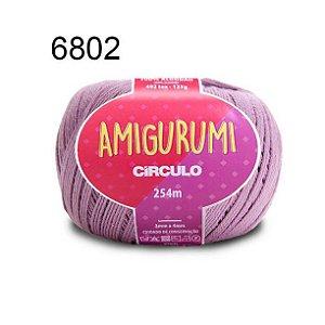 Linha Amigurumi 254m Cor 6802 Malva - Círculo