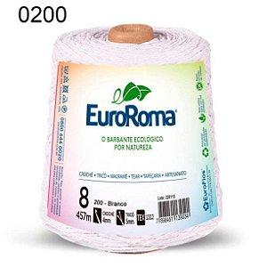 Barbante EuroRoma 8 fios Cor 200 Branco 457 metros