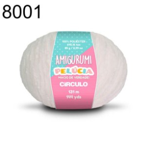 Linha Amigurumi Pelúcia 131m Cor 8001 Branco - Círculo