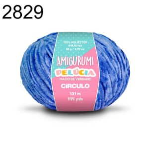Linha Amigurumi Pelúcia 131m Cor 2829 Azul Bic - Círculo