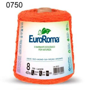 Barbante EuroRoma 8 fios Cor 750 Laranja 457 metros