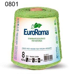Barbante EuroRoma 8 fios Cor 801 Verde Limão 457 metros