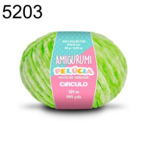 Linha Amigurumi Pelúcia 131m Cor 5203 Greenery - Círculo