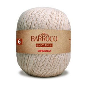 Barbante Barroco Natural Fio Ne 4/6 (885 Tex) 791m 700gr - Círculo