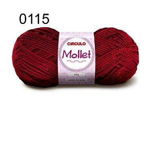 Lã Mollet 100gr 200m Cor 0115 Rubi - Círculo