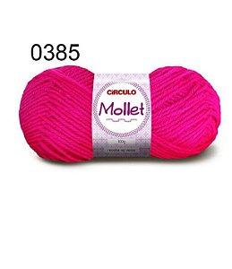 Lã Mollet 100gr 200m Cor 0385 Pink - Círculo