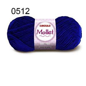 Lã Mollet 100gr 200m Cor 0512 Azul Bic - Círculo