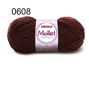 Lã Mollet 100gr 200m Cor 0608 Chocolate - Círculo