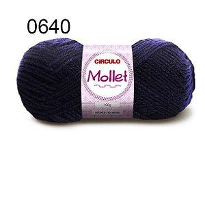 Lã Mollet 100gr 200m Cor 0640 Marinho - Círculo