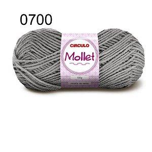 Lã Mollet 100gr 200m Cor 0700 Alumínio - Círculo