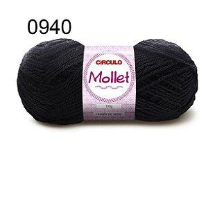 Lã Mollet 100gr 200m Cor 0940 Preto - Círculo