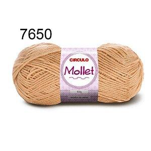 Lã Mollet 100gr 200m Cor 7650 Amêndoa - Círculo