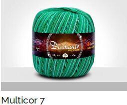 Barbante Diamante Multicolor 6 fios Cor 07 226 Metros 200 Gramas