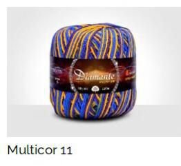Barbante Diamante Multicolor 6 fios Cor 11 226 Metros 200 Gramas