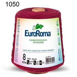 Barbante EuroRoma 8 fios Cor 1050 Bordô 457 metros