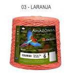 Barbante Amazônia 6 fios Cor 3 Laranja 2 kg - São João