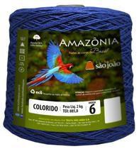 Barbante Amazônia 6 fios Cor 6 Azul Royal 2 kg