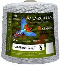 Barbante Amazônia 6 fios Cor 8 Branco 2 kg